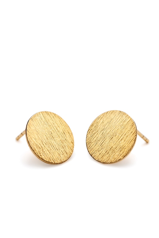 Ohrstecker Small Coin 8mm GOLD