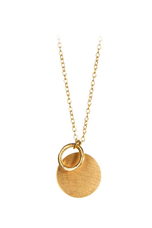Kette Coin & Circle 90cm GOLD