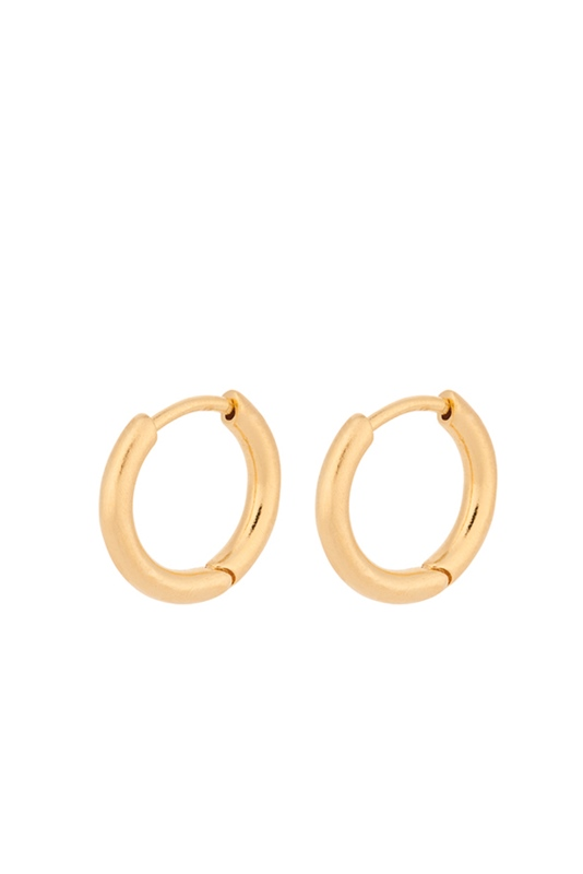 Creole Solid Huggies 10mm GOLD