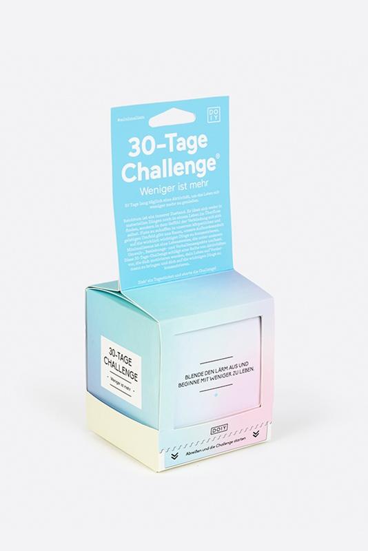 30-Tage Challenge WENIGER IST MEHR