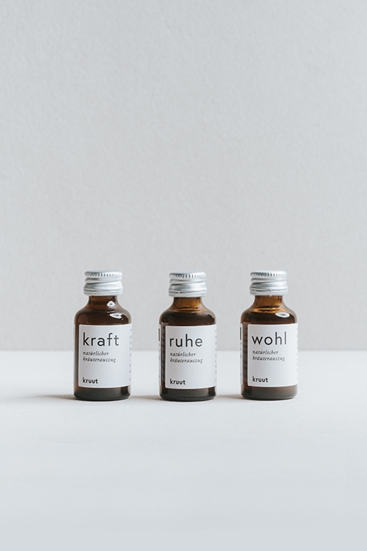 Set 3x15ml Kraft/Ruhe/Wohl in Verpackung