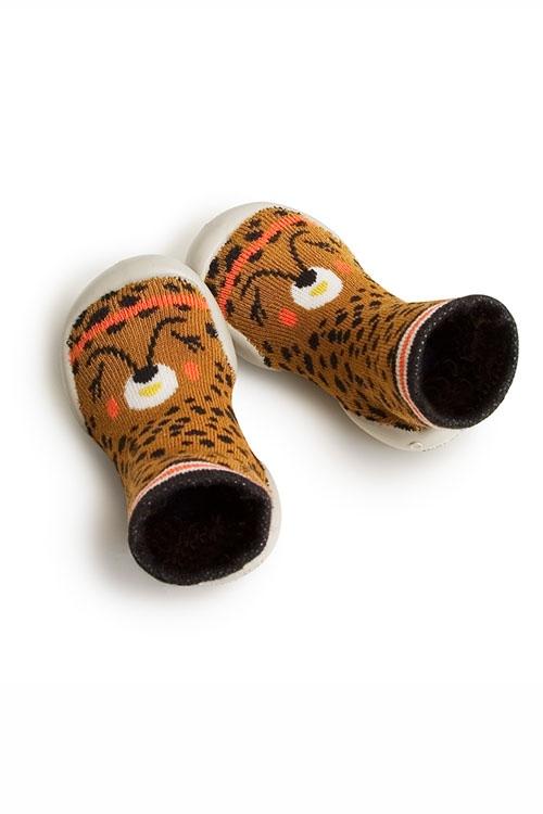 Hausschuhe LANA Leopard