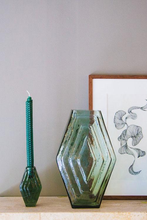 Vase Infinite SMOKEY GREEN