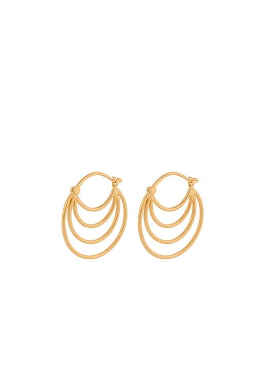 Ohrringe Silhouette 22mm GOLD